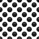 Bezszwowy wzór z koszykówką Fotografia Stock