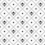 Bezszwowy wzór Z Królewską lelują Zdjęcia Stock