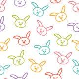 Bezszwowy wzór z królikami. Zdjęcie Royalty Free