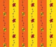 Bezszwowy wzór z kreskówka kwiatami Zdjęcie Royalty Free