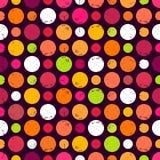 Bezszwowy wzór z kropkami. Zdjęcie Royalty Free