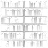 Bezszwowy wzór z książkami na półka na książki Royalty Ilustracja