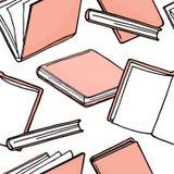 Bezszwowy wzór z książkami Wektorowa ilustracja w nakreślenie stylu Obraz Royalty Free