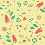 Bezszwowy wzór z kwiatów bluebells ilustracji