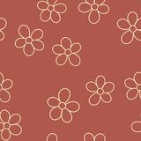 Bezszwowy wzór z kwiatami dla twój projekta wektor royalty ilustracja