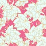 Bezszwowy wzór z kwiatami i jaskrawymi kolorami Obrazy Stock