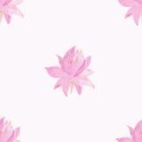Bezszwowy wzór z kwiatami lotosowymi royalty ilustracja