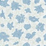 Bezszwowy wzór z kwiatami na tle Tapeta z kwiat teksturą Zieleń i błękit na białym tle Obraz Royalty Free