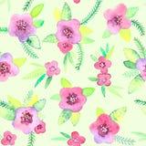 Bezszwowy wzór z kwiatami w wektorze Obraz Royalty Free