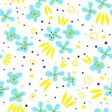 Bezszwowy wzór z kwiatem i liśćmi Obrazy Stock
