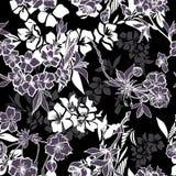 Bezszwowy wzór z kwitnąć wiśni lub Sakura royalty ilustracja