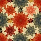 Bezszwowy wzór z liścia i kwiatu abstrakcją Obrazy Stock