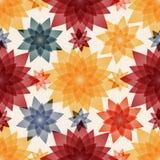 Bezszwowy wzór z liściem i kwiatem ozdobnymi Zdjęcie Royalty Free