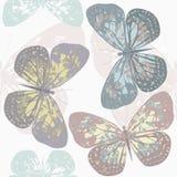 Bezszwowy wzór z ślicznym motylem Fotografia Royalty Free