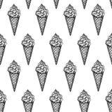 Bezszwowy wzór z lodów rożkami Zdjęcie Royalty Free
