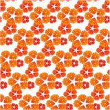 Bezszwowy wzór z małym czerwień i kolor żółty kwitnie Obraz Stock