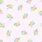 Bezszwowy wzór z małymi błękitnymi kwiatami, niezapominajka Fotografia Royalty Free