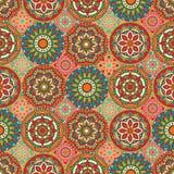 Bezszwowy wzór z mandala Obrazy Royalty Free