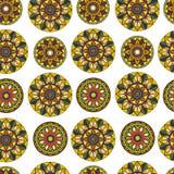 Bezszwowy wzór z mandala Obraz Stock