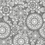 Bezszwowy wzór z mandala Zdjęcie Royalty Free