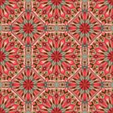 Bezszwowy wzór z mandalas w pięknych kolorach Wektorowy tło Obrazy Royalty Free