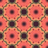 Bezszwowy wzór z mandalas w pięknych kolorach Wektorowy tło Obraz Stock