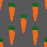 Bezszwowy wzór z marchewkami Zdjęcia Royalty Free