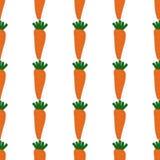 Bezszwowy wzór z marchewkami Obrazy Royalty Free