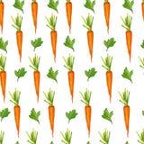 Bezszwowy wzór z marchewkami i zieleniami Ilustracja Wektor