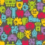 Bezszwowy wzór z mini potworów nanobots Zdjęcia Stock