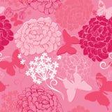 Bezszwowy wzór z motyl sylwetkami i  Obraz Royalty Free