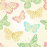 Bezszwowy wzór z motylami. Wektor illustration/EPS 10 Obrazy Stock
