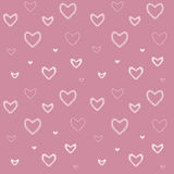 Bezszwowy wzór z mozaiki valentine ` s sercami Zdjęcia Royalty Free