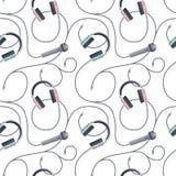 Bezszwowy wzór z muzycznymi symbolami Obrazy Stock