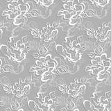 Bezszwowy wzór z nakreślenie różami zdjęcie royalty free