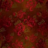 Bezszwowy wzór z nakreślenie różami Fotografia Stock