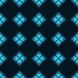 Bezszwowy wzór z neonowymi okręgami Zdjęcia Royalty Free