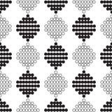 Bezszwowy wzór z okręgami w czarny i biały Zdjęcie Royalty Free