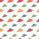 Bezszwowy wzór z origami w formie samolotem Zdjęcie Royalty Free