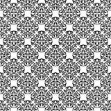 Bezszwowy wzór z ozdobnym Adamaszkowym ornamentem na białym tle Projekt kędziory i roślina elementy Zdjęcie Stock