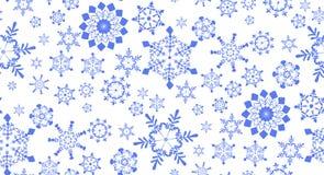 Bezszwowy wzór z płatkami śniegu dla zima wakacji projekta Fotografia Royalty Free