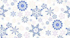 Bezszwowy wzór z płatkami śniegu dla zima wakacji projekta Zdjęcie Stock