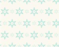 Bezszwowy wzór z płatkami śniegu dla zima wakacji projekta Zdjęcie Royalty Free