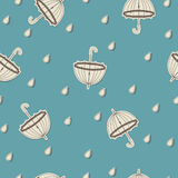 Bezszwowy wzór z parasolami Fotografia Royalty Free