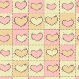 Bezszwowy wzór z patchworkiem Obrazy Stock