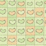 Bezszwowy wzór z patchworkiem Zdjęcie Stock