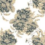 Bezszwowy wzór z piękną wiosną kwitnie i rośliny Zdjęcie Stock