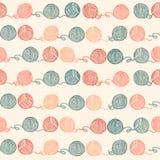 Bezszwowy wzór z piłkami przędza Tło wewnątrz Royalty Ilustracja
