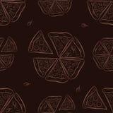 Bezszwowy wzór z pizzą Zdjęcie Stock