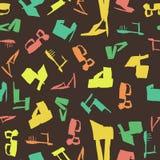 Bezszwowy wzór z pociągany ręcznie kolorowymi szpilkami Obraz Stock